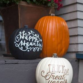 halloween pumpkin with inscriptions photo 014