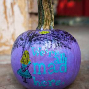 halloween pumpkin with inscriptions photo 016