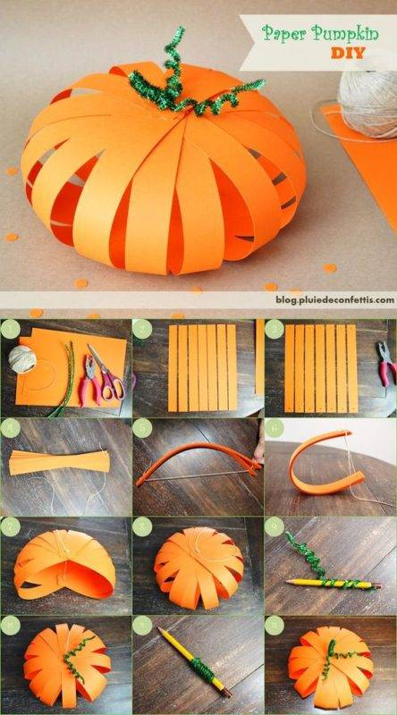 how to make a halloween pumpkin out of paper photo 024
