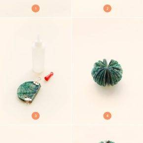 how to make a halloween pumpkin out of paper photo 029