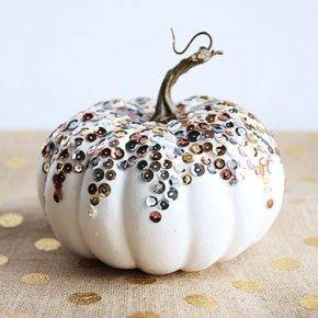 halloween pumpkin with sparkles photo 066