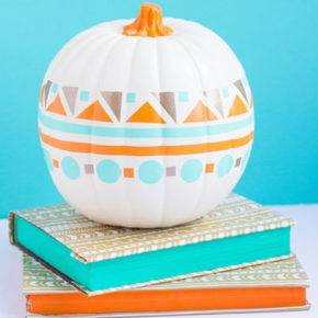 halloween pumpkin with pattern photo 114