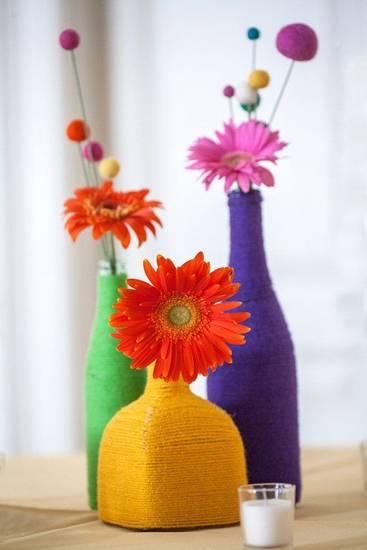 Ваза своими руками ✿ Как сделать красивую вазу из бутылки, банки