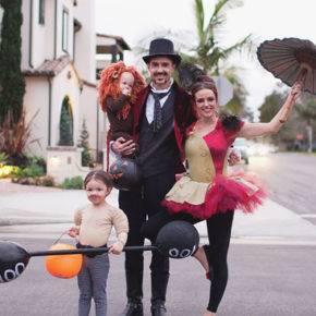 семейный образ на хэллоуин фото 086