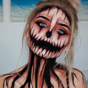 макияж на хэллоуин фото 29
