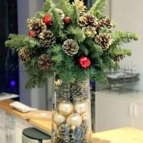 новогодние украшения из шишек фото 054
