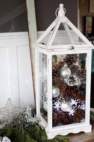 новогодние украшения из шишек фото 058