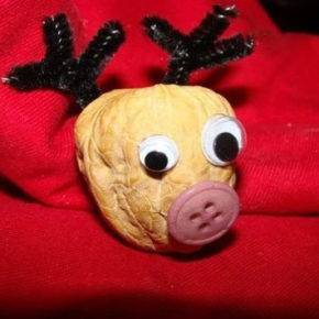 новогодние поделки из грецких орехов фото 028