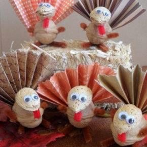 поделки из грецких орехов на тему осень фото 029