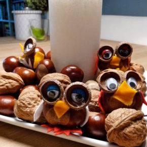 поделки из грецких орехов на тему осень фото 030