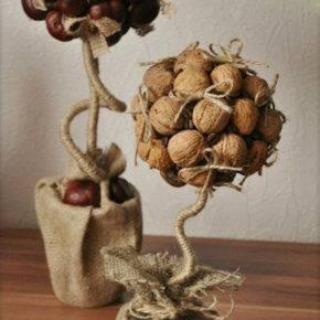 топиарий из орехов фото 058