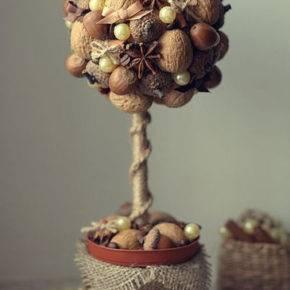 топиарий из орехов фото 060