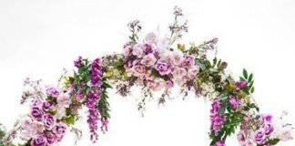 сиреневая свадьба арка фото 001