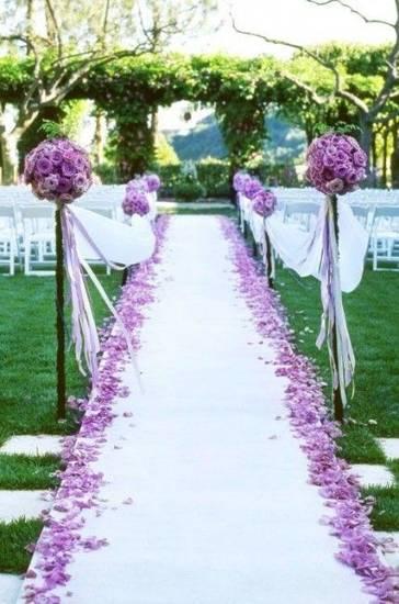 свадьба в фиолетовом цвете арка фото 002