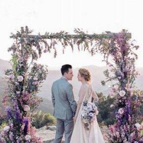 сиреневая свадьба арка фото 004