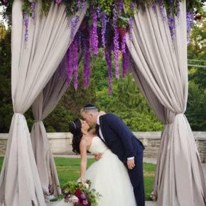 сиреневая свадьба арка фото 009