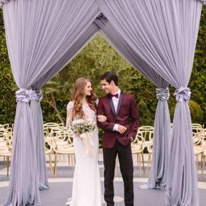 свадьба в фиолетовом цвете арка фото 006