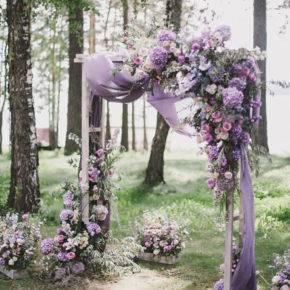 сиреневая свадьба арка фото 008