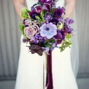 сиреневый букет невесты фото 010