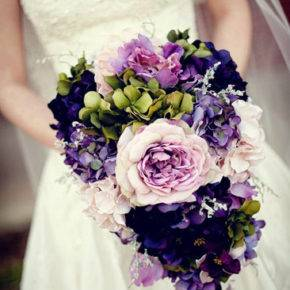 сиреневый букет невесты фото 012