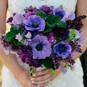 сиреневый букет невесты фото 013