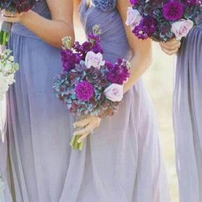 букет невесты с фиолетовыми цветами фото 015