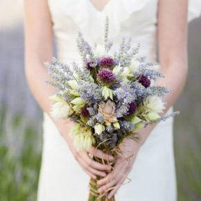 лавандовый букет невесты фото 019