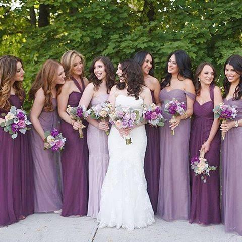 фиолетовый цвет свадьбы фото 029