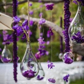 фиолетовая свадьба фото 036