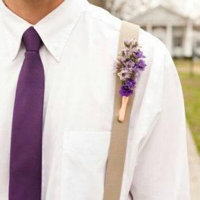 фиолетовая свадьба костюм жениха фото 039