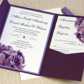 сиреневая свадьба пригласительные фото 049