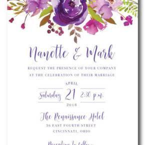 свадьба в фиолетовом цвете пригласительные фото 053