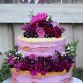 фиолетовый торт на свадьбу фото 068