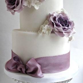 фиолетовый торт на свадьбу фото 069