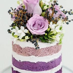 фиолетовый торт на свадьбу фото 070