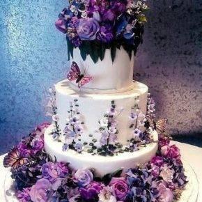 фиолетовый торт на свадьбу фото 071