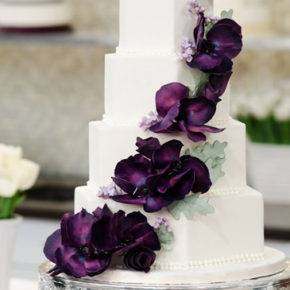 фиолетовый торт на свадьбу фото 072