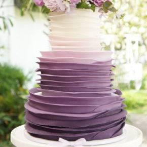 фиолетовый торт на свадьбу фото 073