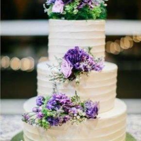 фиолетовый торт на свадьбу фото 075
