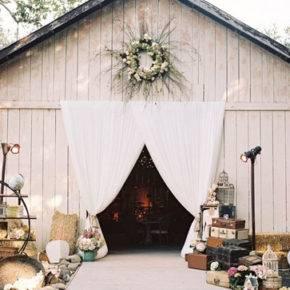 свадьба в стиле рустик арка фото 002