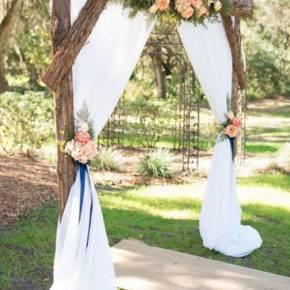 свадьба в стиле рустик арка фото 008