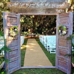 свадьба в стиле рустик арка фото 010