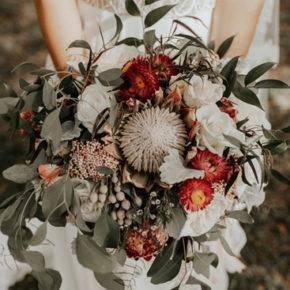 свадебный букет в стиле рустик фото 014