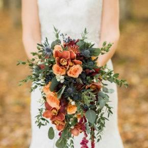 свадебный букет в стиле рустик фото 016