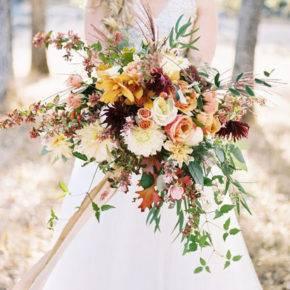 свадебный букет в стиле рустик фото 018