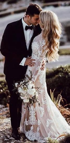 свадебное платье в стиле рустик фото 031