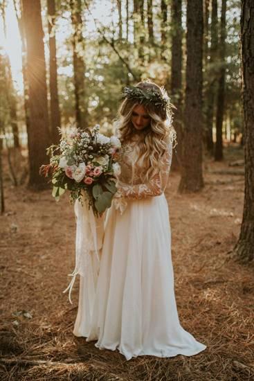 свадебное платье в стиле рустик фото 032