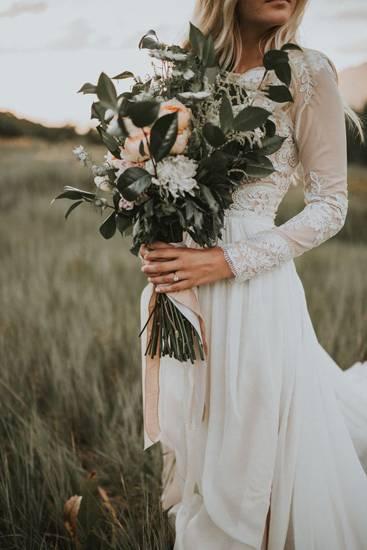 свадебное платье в стиле рустик фото 037