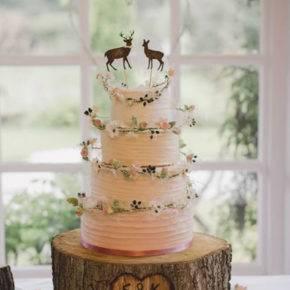 свадебный торт в стиле рустик фото 045