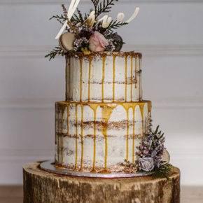 свадебный торт в стиле рустик фото 048
